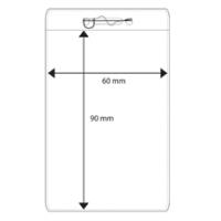 Plastficka 60x90 mm med säkerhetssnål