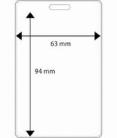Plastficka 63x94 mm